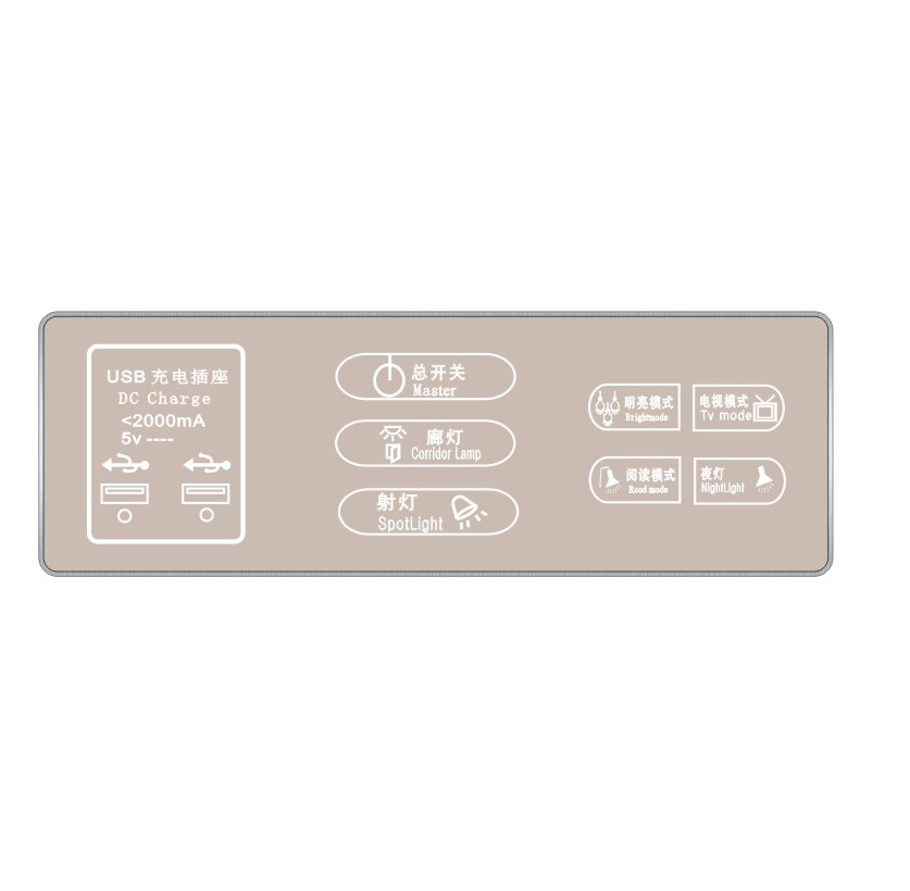 Key-SH-CM8008-3  触摸开关
