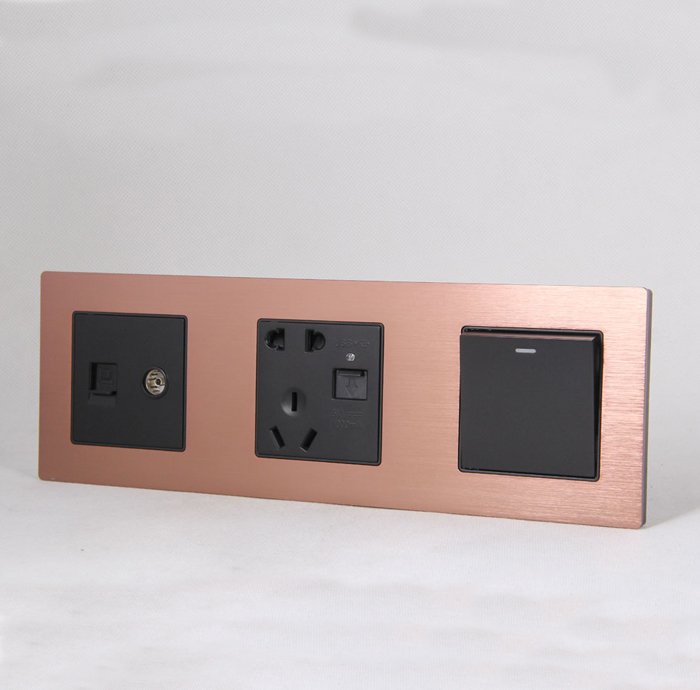 sjzz-SN-205 玫瑰金 多媒体插座