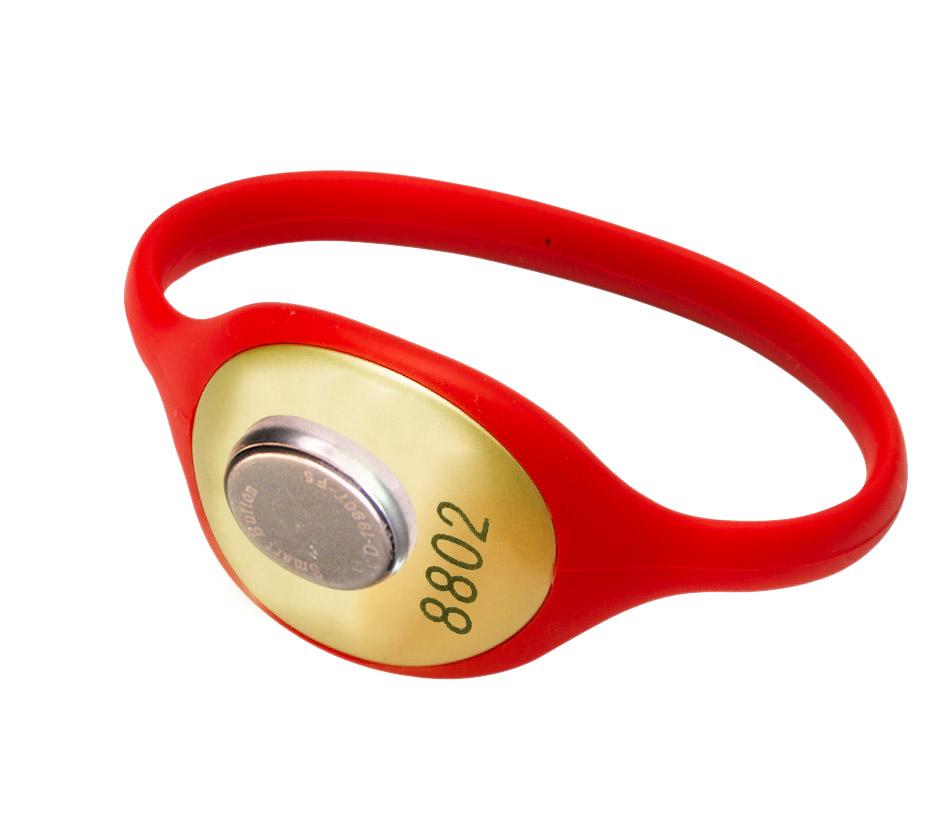 红色硅胶表带 桑拿锁手牌