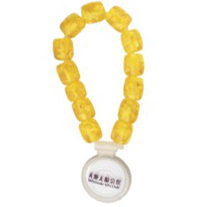 黄色珠子 桑拿锁手牌