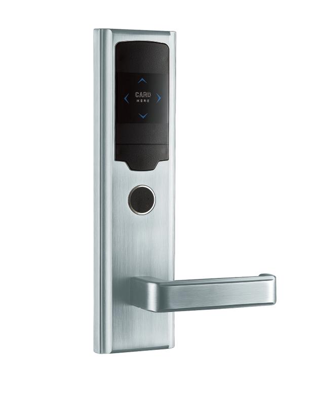 LK-301-01C96钢拉丝  酒店智能电子门锁