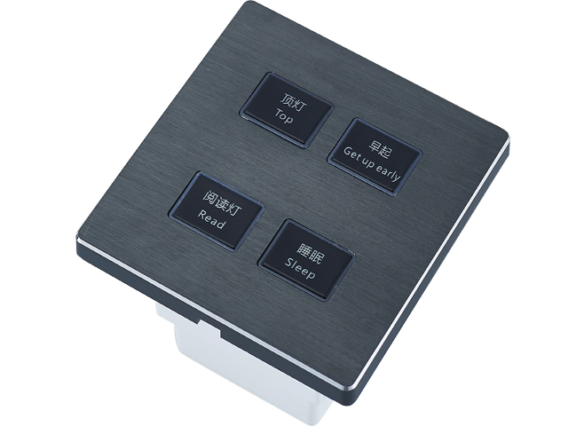 sjzz-K5S-101三联轻触开关(银灰色)